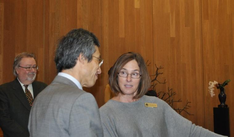 Minister Moroni and Lindsay McKerkcher