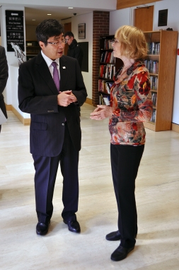 Ambassador Ishikane and Sandra Olney